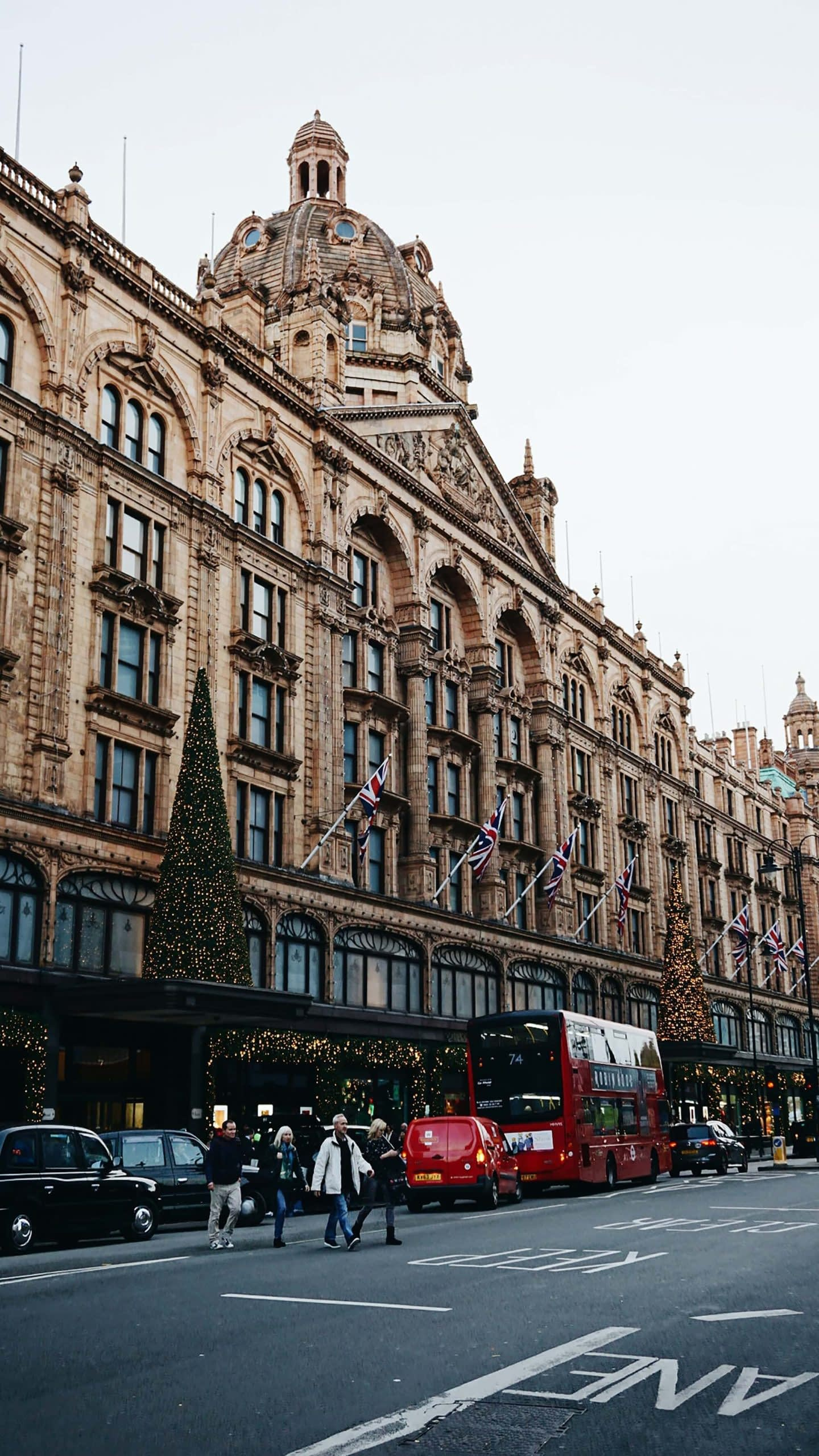 Shopping at Harrods Department Store London